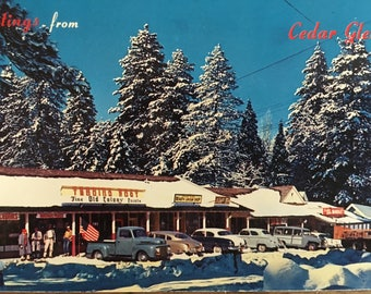 Vintage Postcard of Cedar Glen CA