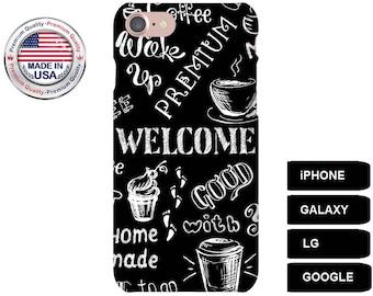 Coffee Phone Case, Phone Case Coffee, Coffee iPhone Case, Coffee Galaxy Case, Coffee Google Pixel Case, Galaxy S7 Case, Galaxy S6 Edge, LG