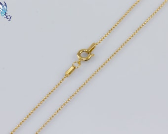 1mm Gold Filled & Sterling Silver Bead Chain, Beaded Chain, Tiny Beads, Delicate, Dainty, Layering Chain, Layered, Chain, DIY, SCN083, GVN13