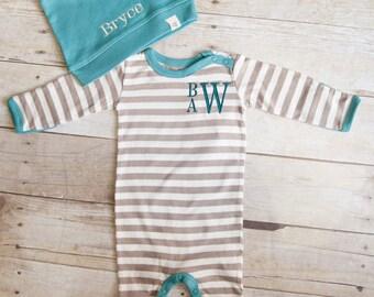 Baby Boy Outfit - Baby Shower Gift Boy- Newborn Boy-  Baby Photos- Organic Baby - Baby Boy