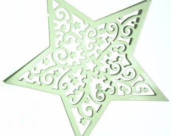 Cut lace star scrapbooking