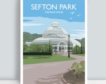 Sefton Park, The Palm House, Liverpool. Art Print/Poster.