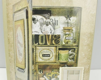 Tim Holtz Mini Configurations compartmented book