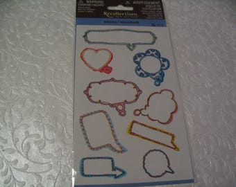 9 Piece Frame Stickers for Words Scrapbook Craft Embellishment Supplies