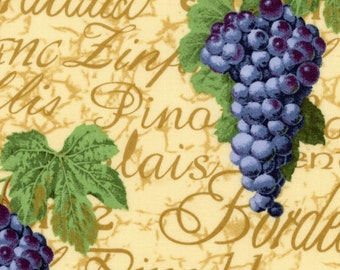 Grapes and Wine Varieties on Cream/Tan - Wine Country - EESCO