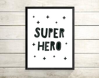 super hero print ,nursery print , Nursery Wall Art, New Baby, Custom Print,  Nursery, Nursery Print, Nursery Art,