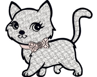 Machine Embroidery Design~INSTANT Download~Super Cute Kitty kitten~happy cat~pet~adorable!~MaryMeridius