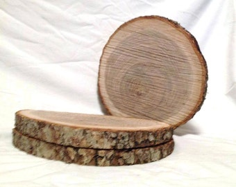 "6 Wood Slices 10"" to 12""  Rustic Wedding Centerpieces, Crafts, Tree Slices, Wood Rounds, Log Slices, Wood Slab, Wood Slices"