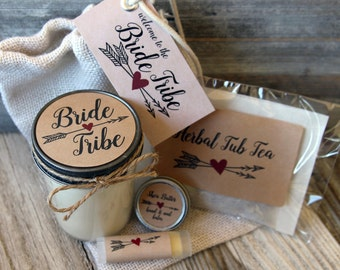 Set of 10 - Bride Tribe - Bridesmaid Proposal Gift//Will you be my Maid of Honor Gift//Bridesmaid Proposal Bag//Bachelorette Gift