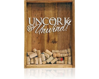 12x16 Wine Cork Holder, Wedding Gift, Shadow Box, House Warming Gift, Shadow Box Cork Holder