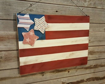 American Flag Decoration.. 4th of July Decor, Patriotic decor