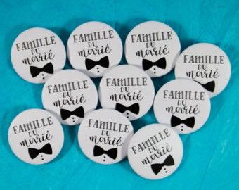 10 badges wedding groom