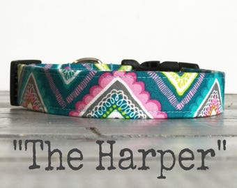 Colorful DOG COLLAR, Dog Collars, The Harper, Dog Collar, Cool Dog Collar, Cute Dog Collars