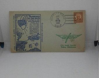 Spring Sale Vintage 94th Aero Squadron Aiglon Stamp Club 1933 Postal Cover Postal History