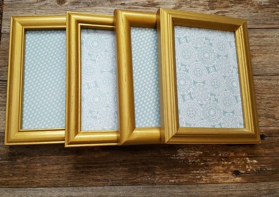 Set of four 5x7 gold metallic frames from ScrappyHappyShay on Etsy ...