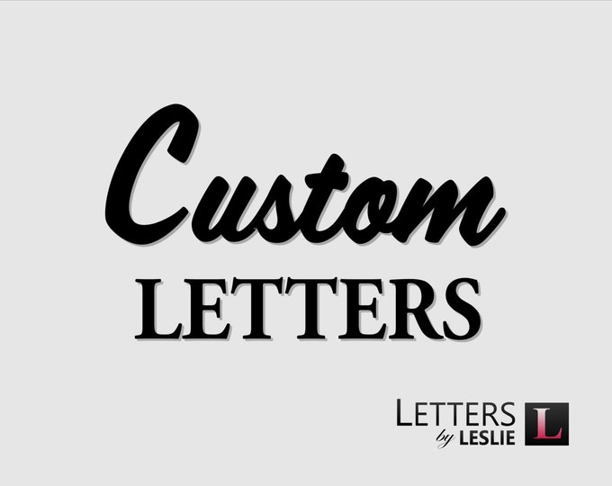Custom letters, signs and plaques, logos, custom wood routing, CNC services