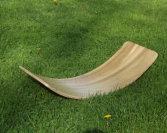 Wooden rocker board - Kids balance board - Waldorf board - Yoga board