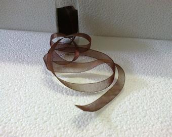 Brown 15mm organza Ribbon