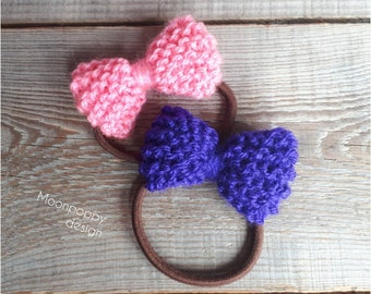Ponytail holder, Elastic hair ties, Knitted hair bows, Girly gifts, Hair holder, Elastic ponytail, Hair bobbles