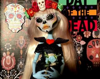 """Ooak monster high doll """"La Katrina 1 """"Day of the death"""" (día de los muertos)"""