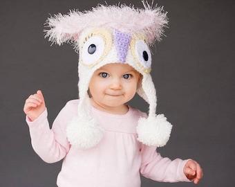 Mystic Owl Hat - Crochet Hat Pattern - Crochet Hat Patterns - Crochet Pattern - Childrens Crochet Pattern - Crochet Animal Hat Patterns