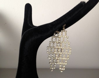 Rhinestone Shoulder Duster Post Earrings / Drag Queen Jewelry / Glam Shoulder Dusters / Burlesque Attire