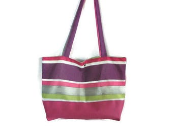 Multicolor fabric shopping bag