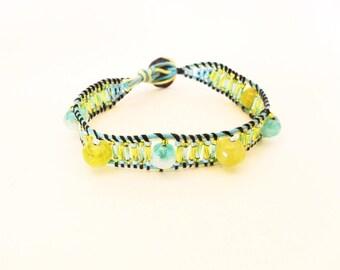 Wrap bracelet round beads