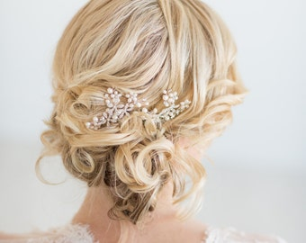 Bridal Hair Comb, Freshwater Pearl and Crystal Hair Comb, Wedding Hair Comb, Wedding Headpiece
