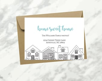Moving Announcement, New Home Postcard, New Address, We've Moved Again, INSTANT DOWNLOAD, Home sweet home