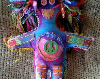 Hippy Dippy Who Doo folk art charm doll