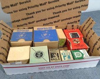 Vintage Screws, Nails, Tacks, Vintage Hardware Supply, New Old Stock Woodworking Supply, Restoration Hardware, Salvaged Hardware Supply
