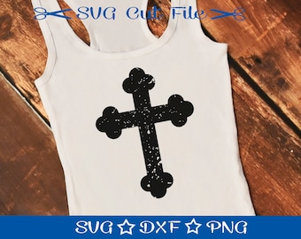Distressed Cross SVG, Christian Cross, Prayer SVG, Christian SVG, Easter, Jesus Svg, Svg Cutting File, Svg Cut File, grunge