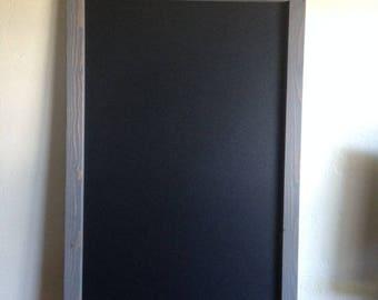 """Large Magnetic Chalkboard 18""""x24"""", Framed Chalkboard, Rustic Wedding, Large Chalkboard, Menu Board, Kitchen Decor, Kitchen Chalkboard"""