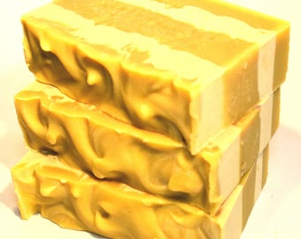 SANDALWOOD & ORANGE Soap, vegan soap, cold process soap, handmade soap Australia, artisan soap