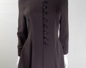 Original Vintage 1980s Amanda Wakeley Brown Jacket UK Size 10/12