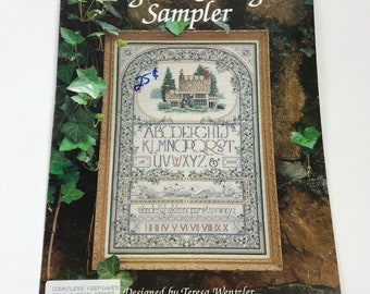 English Cottage Sampler Teresa Wentzler Counted Cross Stitch Pattern Only