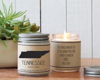 Tennessee Scented Candle - Homesick Gift   I Love Tennessee   State Scented Candle   Moving Gift   College Student Gift   State Candles