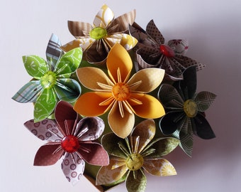 3d Origami Star flowers in box