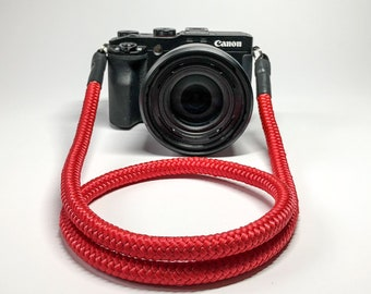 Camera Strap for DSLR red-Camerastrap-rope-camera Band-10 mm-Universal shoulder strap-carrying strap-Sony Olympus-Seilstyles