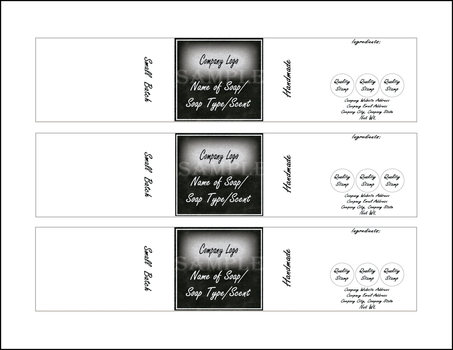 Soap label template printable 4 files 4 diy 2 x 10 blank svg this is a digital file accmission Gallery
