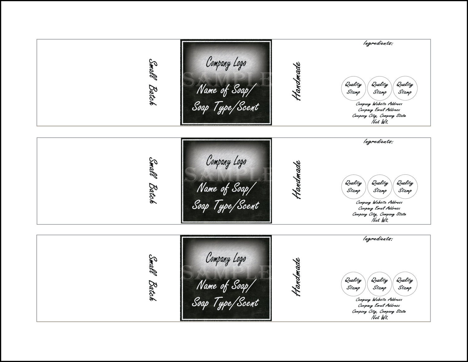 Soap label template printable 4 files 4 diy 2 x 10 blank svg this is a digital file accmission