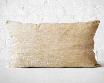 Cream Velvet Lumbar Pillow| Housewarming Gift Idea for couple | Cream Velvet Lumbar Cushion