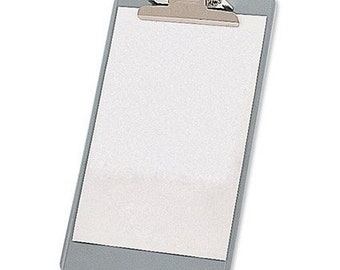 Steel Enamelled Clipboard Foolscap Grey
