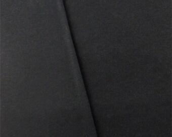 Charcoal Black Interlock Knit, Fabric By The Yard