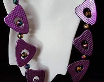Purple Triangular Necklace