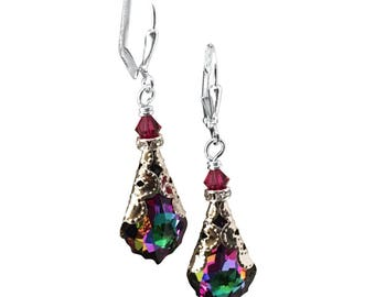 Electra Baroque Crystal Earrings, Vintage Earrings with Crystal from Swarovski
