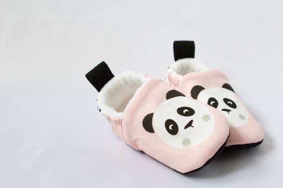 Pink Panda baby Girls moccs