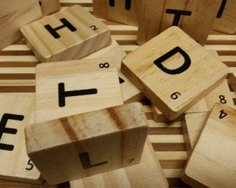 5  -  2 x 2 inch Scrabble Tiles , Craft Supplies & Tools, Jewelry and Beading supplies, bulk scrabble tiles, Scrapbooking Supplies, Tiles