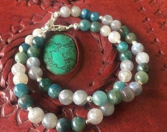 Blue Apatite & Labradorite Bracelet